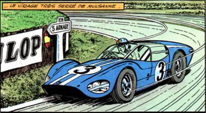 """Michel en pleine action à Mulsanne sur le proto """"Le Mans Sport"""""""