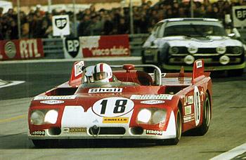 24 heures du Mans 1972 - Alfa Romeo 33 TT 3 Pilotes : Andrea de Adamich / Nino Vaccarella - 4ème
