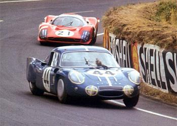 24 heures du Mans 1967 - Alpine-Renault A210 Pilotes : Jacques Cheinisse / Roger de Lageneste - 11ème