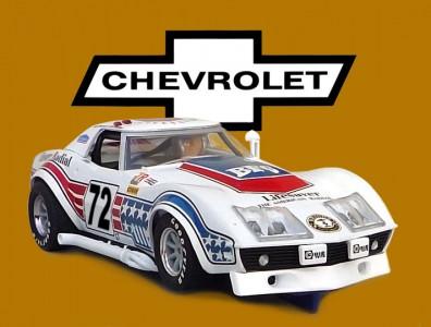 24 heures du Mans 1972 - Chevrolet Corvette #72 - Scalextric