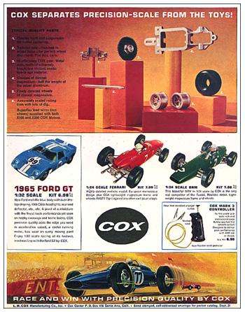 Page de publicité Cox en 1965