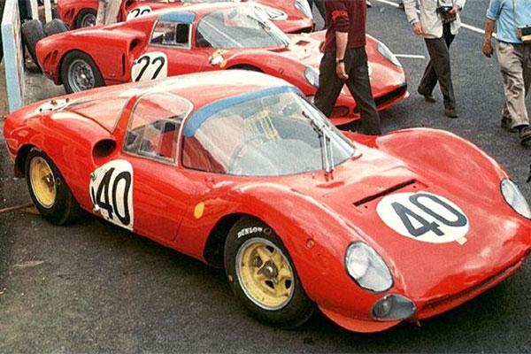 La Dino 166S numéro 40 aux 24 heures du Mans 1965