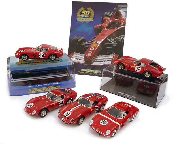 Le slot racing en rouge...et en 250 GTO : Scalextric, Pinkar, Fly, Monogram