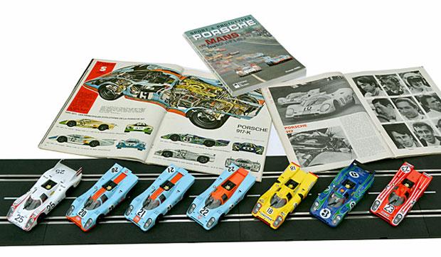 Les sept Porsche 917 des 24 heures du Mans 1970 par Fly dans l'ordre du départ. La numéro 23, dernière qualifiée, sera pourtant la première à l'arrivée.