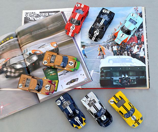 Les huit Ford MkII des 24 heures du Mans 1966 par Scalextric