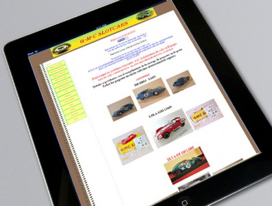 Site Internet GMC-Slot-Cars