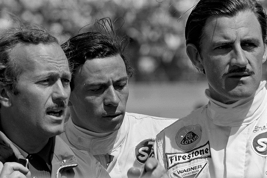 Colin Chapman, Jim Clark, Graham Hill