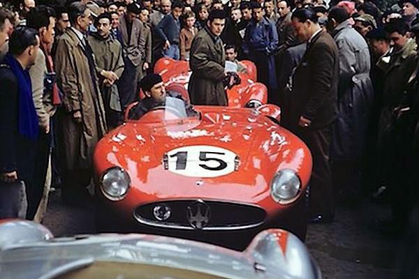 La Maserati 300S numéro 15 aux 24 heures du Mans 1955
