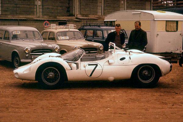 La Maserati Tipo 63 numéro 7 aux 24 heures du Mans 1961