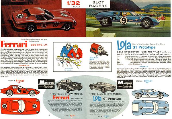 Les voitures Monogram des 24 heures du Mans