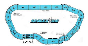 Plan du Mans par Scalextric en 1975