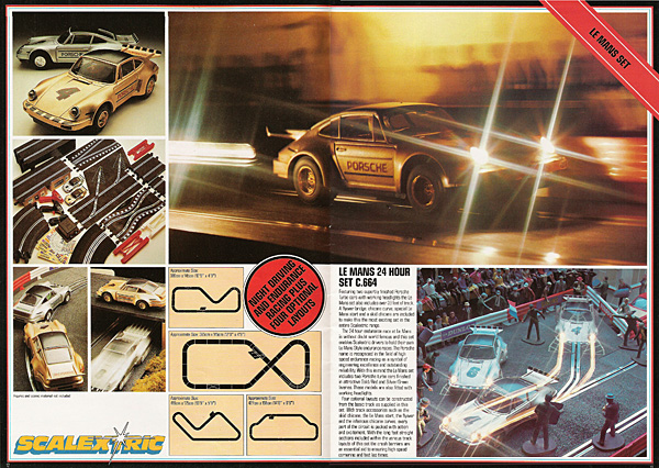 Les 24 heures du Mans au catalogue Scalextric en 1982 - Set C.664