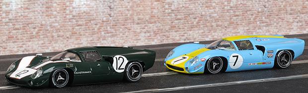 Les deux Lola T70 MkIII Thunderslot des 24 heures du Mans 1967 et 1968