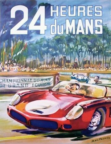 L'affiche des 24 heures du mans 1962