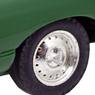 Jaguar Type E SCX - Détails des roues