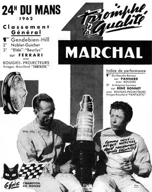 Victoire au Mans 1962