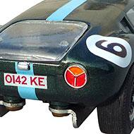 Lola Mk6 GT Monogram - Détails de la poupe