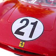 Ferrari 250P - MRRC 9905 - Détails de la décoration avant