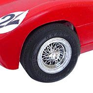 Ferrari 250P Monogram - Détail des roues