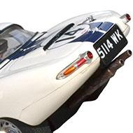Jaguar Type E Lightweight - Revell 08358 - Détails de la face arrière