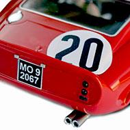 Ferrari 250 GTO - Scalextric C2970 - Détails du panneau arrière