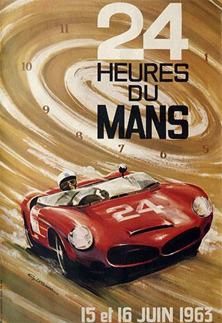 L'affiche des 24 heures du mans 1963