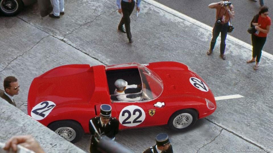 24 heures du Mans 1963 - Ferrari 250P #22 - Pilotes : Umberto Maglioli / Mike Parkes - 3ème