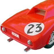 Ferrari 250 LM - Airfix-5140 - Détails de la face arrière