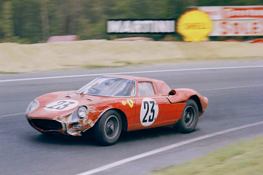 24 heures du Mans 1964 - Ferrari 250 LM #23 - Pilotes : Pierre Dumay / Gerard Langlois - 16ème