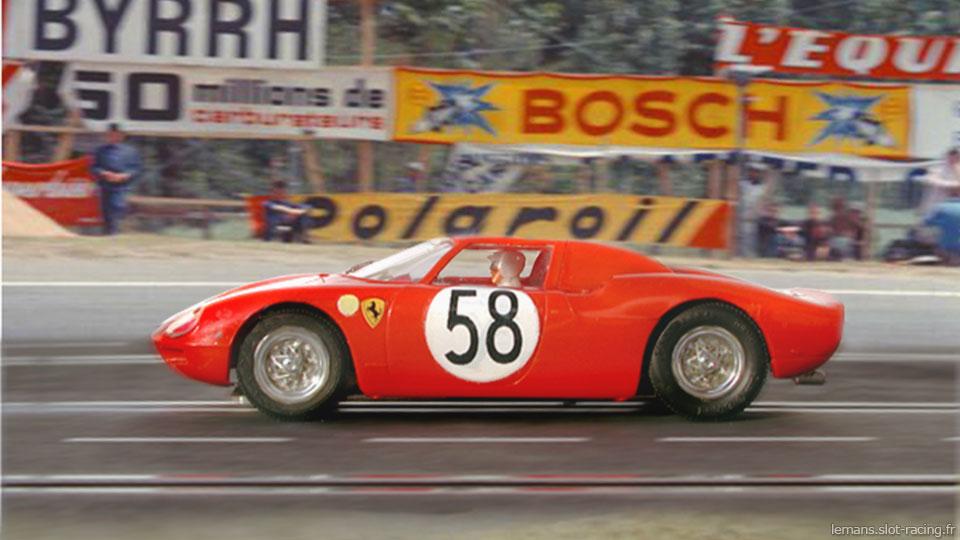 24 heures du Mans 1964 - Ferrari 250 LM#58 - Pilotes : David Piper/ Jochen Rindt - Abandon