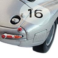Jaguar Type E Lightweight Revell - Détails de la face arrière