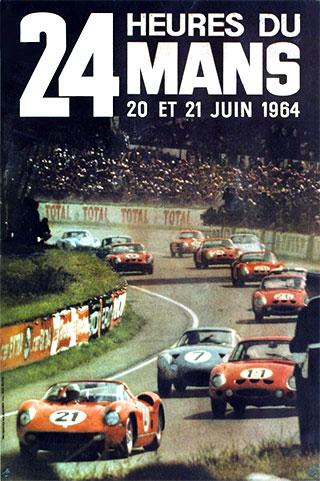 L'affiche des 24 heures du mans 1964