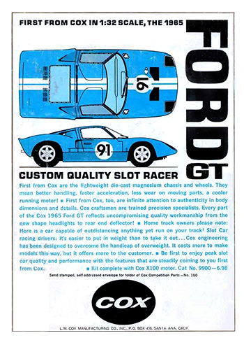 Publicité Ford GT40 Cox