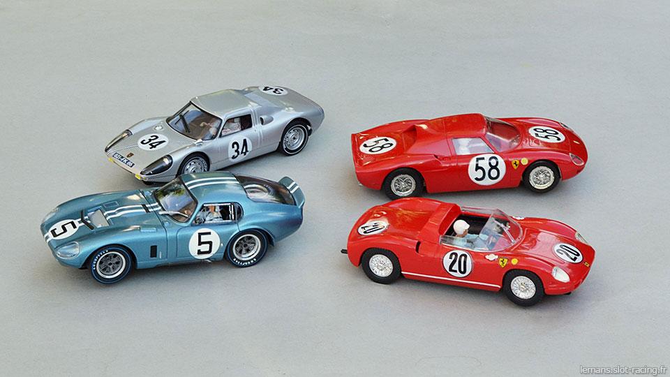 Cobra Daytona Revell, Porsche 904 MRRC, Ferrari 250 LM Monogram, Ferrari 275P MRRC