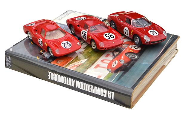 Trois générations de Ferrari 250 LM - Airfix, Monogram, Fly