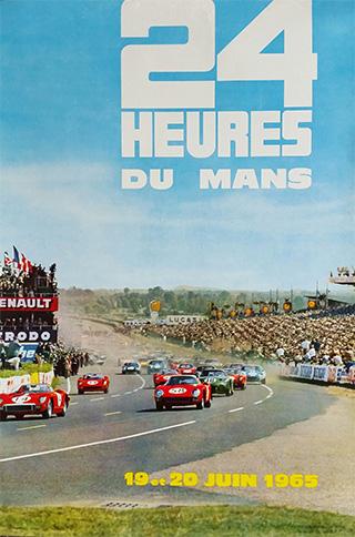 L'affiche des 24 heures du mans 1965