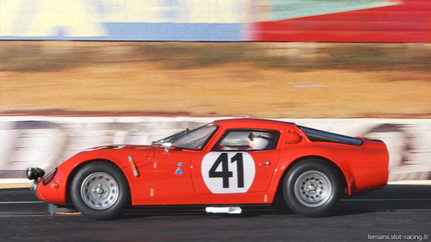 24 heures du Mans 1965 - Alfa-Roméo TZ2 #41 - Pilotes : Roberto Bussinello / Jean Rolland - Abandon