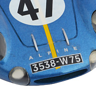 Alpine M64 - Détails du capot avant