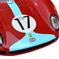 Ferrari 330 P2 Carrera - Détails du capot avant