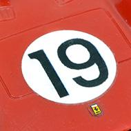 Ferrari 330 P2 Strombecker - détail de la décoration