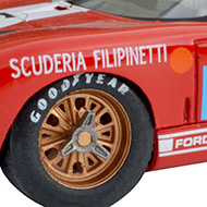 Ford GT40 - Détails des roues avant