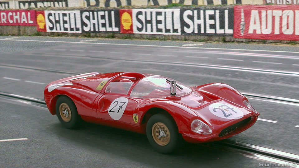 24 heures du Mans 1966 - Ferrari 330 P3 #27 - Pilotes : Pedro Rodriguez / Richie Ginther - Abandon