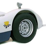 Porsche 906 - Détails des roues avant