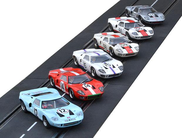 Les six Ford GT40 engagées aux 24 heures du Mans 1966