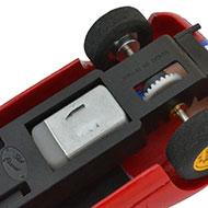Dino 206S - Le châssis Slot Classic et la transmission