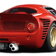 Ferrari 330 P3 - Détails de la face arrière