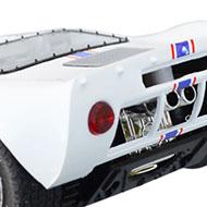 Ford GT40 - Détails du panneau arrière