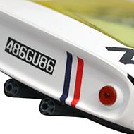 Porsche 906 - Détails du panneau arrière