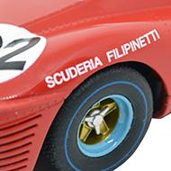 Ferrari 412P - Détails des roues arrière