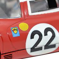 Ferrari 412P - Détails de la décoration